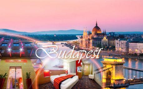 Exkluzivní pobyt ve 4* hotelu přímo v metropoli Maďarska! Budapešť na 3 DNY pro 2 OSOBY včetně SNÍDANĚ a maďarského SEKTU za jedinečných 3290 Kč! Platnost voucheru 1 ROK! Poznejte krásu Budapešti se slevou 50%!