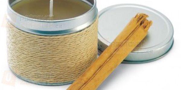 Skořicová svíčka v plechové krabičce a poštovné ZDARMA s dodáním do 3 dnů! - 15008155