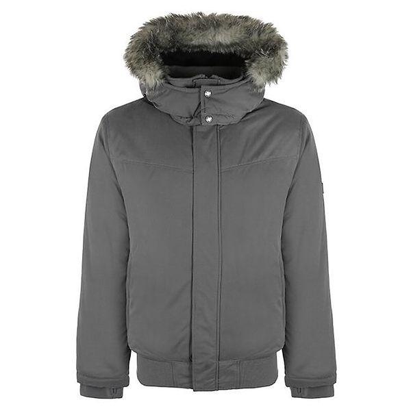 Pánská tmavě šedá zimní bunda Bench