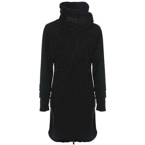 Dámský černý fleecový kabát s límcem Bench