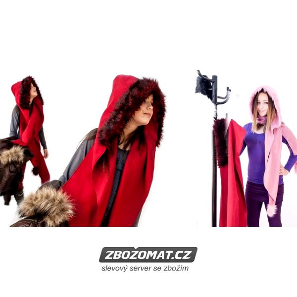 Luxusní dámská šála s kapucí