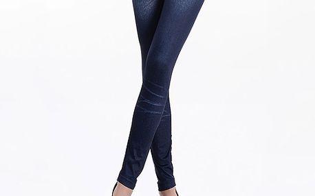 Legíny s imitací tmavě modrých džín a poštovné ZDARMA! - 6808200