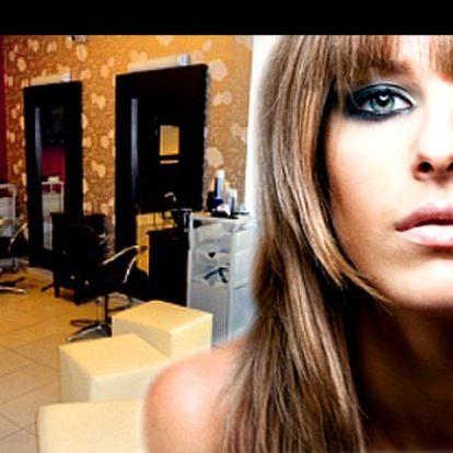 Hvězdná péče o vaše vlasy od prestižního salónu EXCLUSIVE se slevou 48 %: Dámský KADEŘNICKÝ BALÍČEK včetně mytí, masky, kreativního střihu, barvy, melíru, foukané a stylingu + jako BONUS relaxační masáž hlavy! Vložte se do rukou profesionálů.