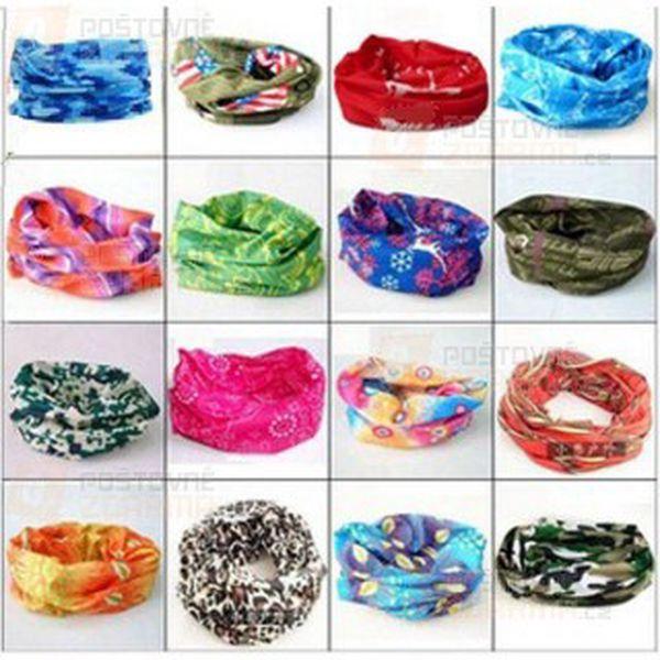 Multifunkční šátek v atraktivních vzorech pro muže i ženy a poštovné ZDARMA! - 9808143