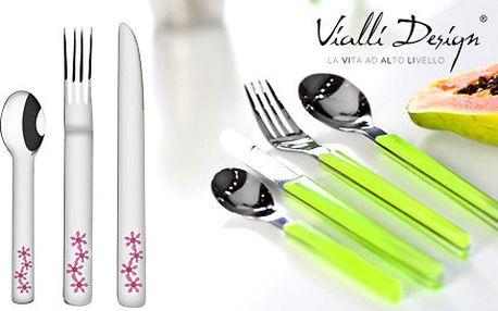 Sada 24 příborů Vialli Design pro hravé stolování