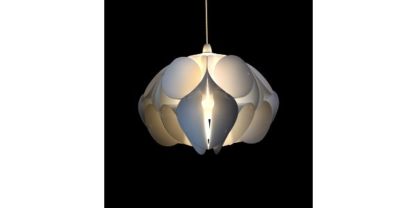 Stínidlo Orchid, small inspirované technikou origami