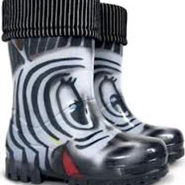 Dětské holínky TWISTER LUX PRINT S Zebra
