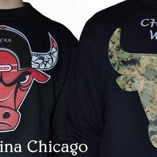 Mikina Chicago Onyxx od značky Onyxx Limitation je recese zaměřená na Chicago Bulls.Potěší všechny milovníky pohodového oblečení.