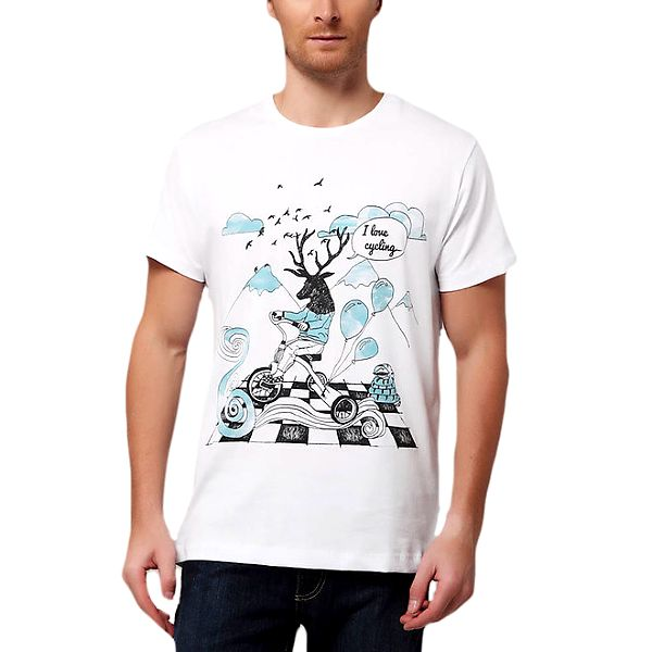 Pánské tričko s potiskem jelena Dogo