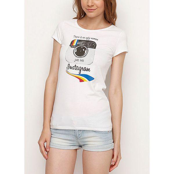 Dámské bílé tričko s Instagramem Dogo