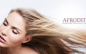 PRODLOUŽENÍ a ZAHUŠTĚNÍ VLASŮ KERATINEM v profesionálním studiu Afrodité již od skvělých 1299 Kč! Vybrat si můžete ze 3 různých délek! Prodloužení se provádí kvalitními vlasy evropského typu REMY a aplikuje se 50 pramenů!