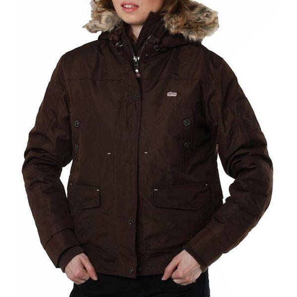 Dámská tmavě hnědá bunda s kapucí Geographical Norway