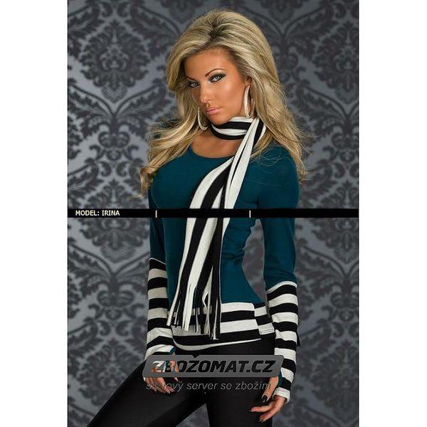 Ležérní svetr s proužky