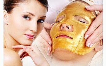 Ultrazvukové ošetření - ultrazvuková žehlička s červeným světlem se závěrečným nasazením Zlaté masky - 90 minut s báječnou slevou!!