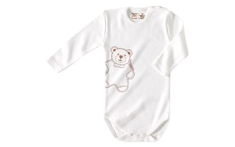 Body s dlouhým rukávem Medvídek - 100% organická bavlna