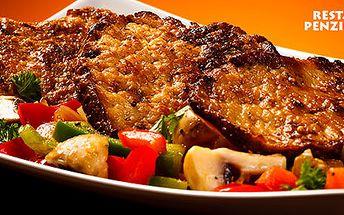 Znamenitý steakový talíř se salátem až pro 3 osoby