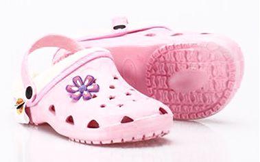 Růžové pantofle s kožíškem