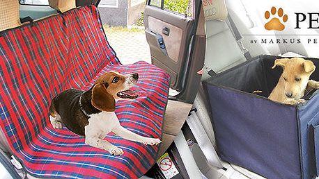 Doplňky do auta pro komfortní přepravu pejsků