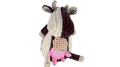 Cestovní kamarád - Hudební plyšák kravička Milkos, 18cm