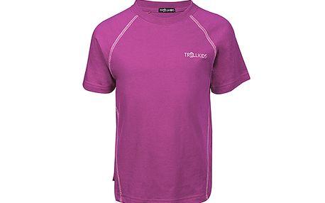 Rychleschnoucí růžovofialové triko s UV+30