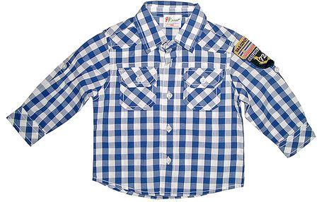Modrá kostkovaná košile
