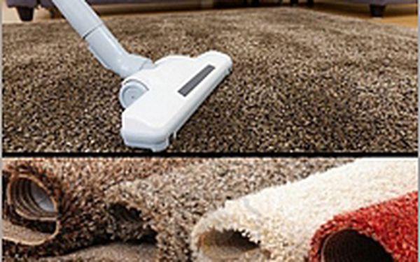 Hloubkové čištění koberců