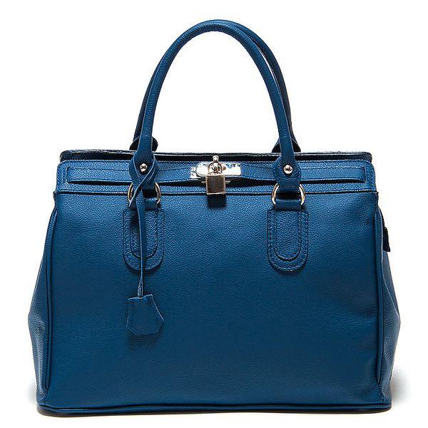 Dámská modrá kabelka se zámečkem Roberta Minelli