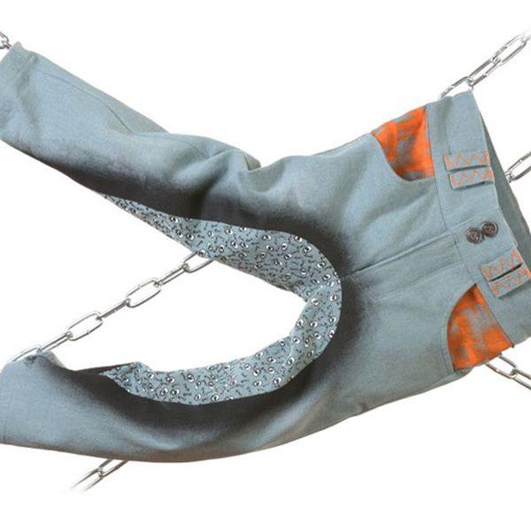 Šedo-oranžové rebelské kalhoty