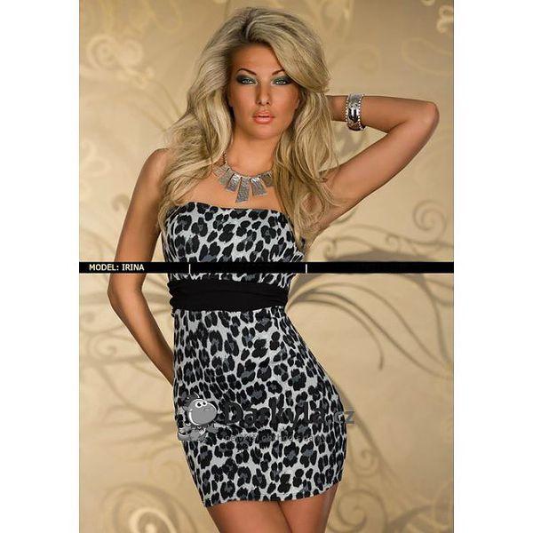 Leopardí minišaty pro královny večírků