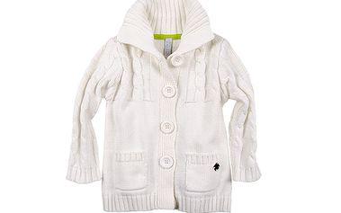 Bílý svetr na knoflíky
