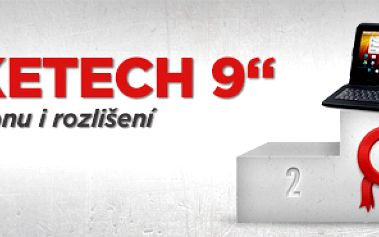 """Tablet SMOKETECH 9"""" + kožené pouzdro s klávesnicí"""
