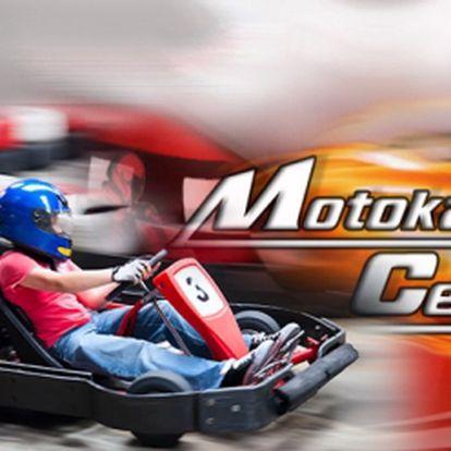Adrenalin v Motokarcentru u Českých Budějovic! 15 minut jízdy již za 185 Kč, nebo 3x 15 minut za ještě výhodnějších 480 Kč! Originální dráha s 18m dlouhým mostem, kvalitní motokáry, profesionální časomíra a platnost 1 ROK!