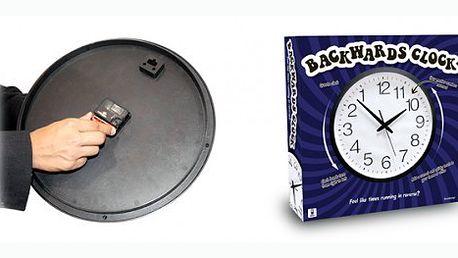 Báječné obrácené hodiny za 199 Kč. Velmi vtipné hodiny s úžasným designem, jejichž hodinové ručičky jdou pozpátku. Tip na opravdu originální dárek!