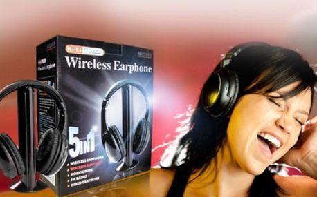 Černá bezdrátová SLUCHÁTKA se základnou a vestavěným mikrofonem, jen za 349 Kč včetně POŠTOVNÉHO! Užívejte si oblíbenou muziku naplno díky 46% slevě!
