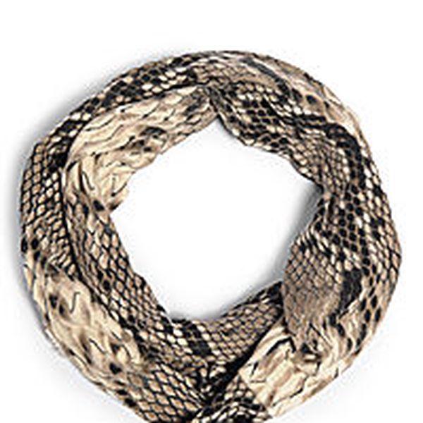 Trendy kruhový šátek s hadím potiskem