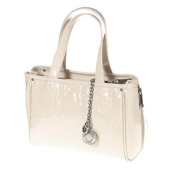 Dámská krémová kabelka s řetízkovým přívěskem Calvin Klein
