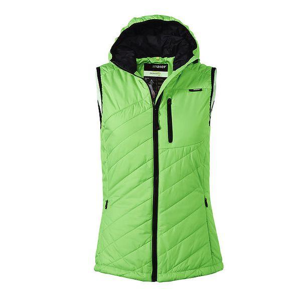 Dámská zelená prošívaná vesta Maier