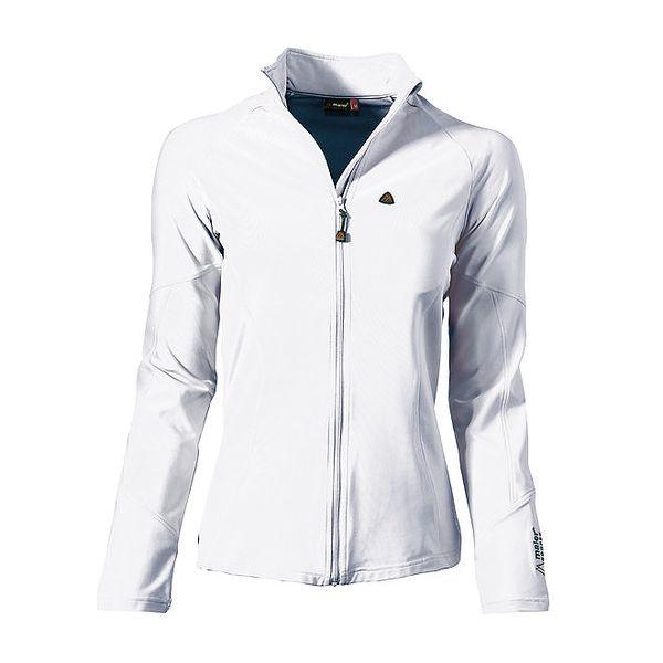Dámská bílá sportovní bundička s ozdobnými švy Maier