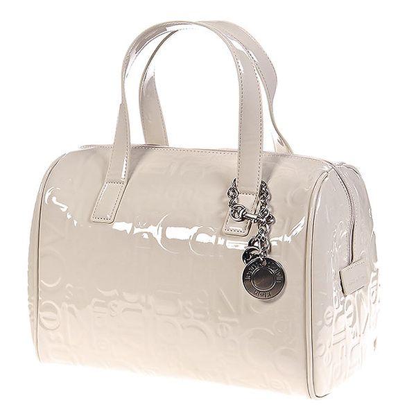 Dámská krémově bílá kabelka se vzorem Calvin Klein