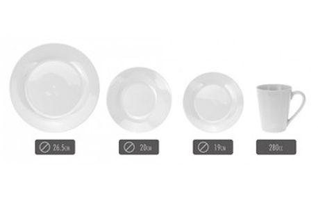 Jídelní sada talířů 16 ks porcelánová KAISERHOFF KO-185127