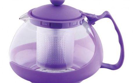 Konvice na čaj sklo plast 750 ml fialová RENBERG RB-3026fial