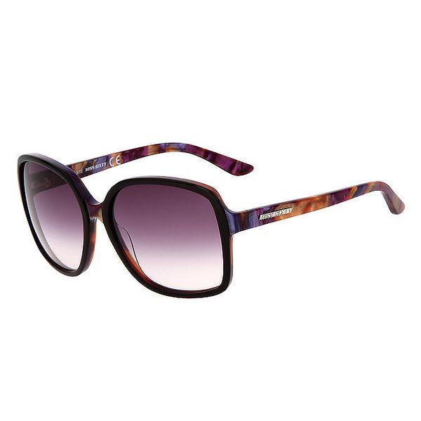 Dámské hranaté barevné sluneční brýle Miss Sixty se žíhaným efektem