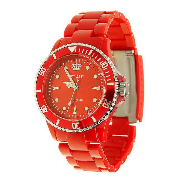 Dámské červené hodinky Jet Set