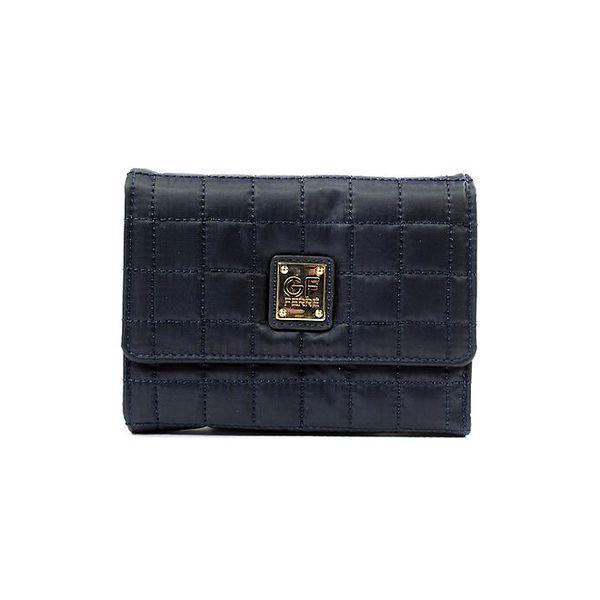 Dámská tmavě modrá prošívaná peněženka se štítkem Gianfranco Ferré