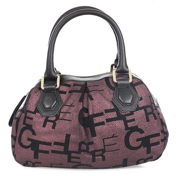 Dámská fialovo-černá kabelka Gianfranco Ferré