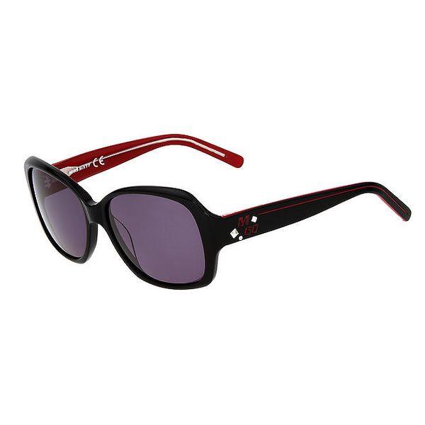 Dámské černé hranaté plastové sluneční brýle Miss Sixty