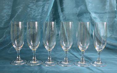 Vysoce kvalitní set 6 skleniček na sekt, sleva 60%!