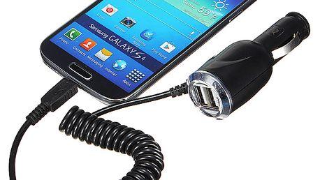 Micro USB nabíječka do autozapalovače s 2x USB portem a poštovné ZDARMA! - 7408360