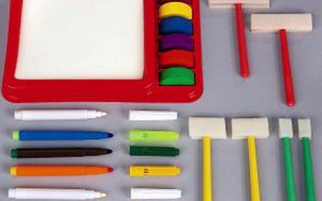 Malířský kufřík - vodové barvení. Štětce, barvy i fixy zdarma!