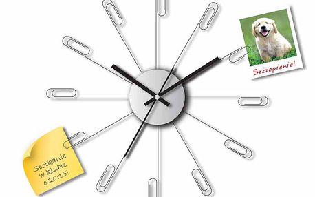 Hodiny s kancelářskými sponkami, které organizují čas!